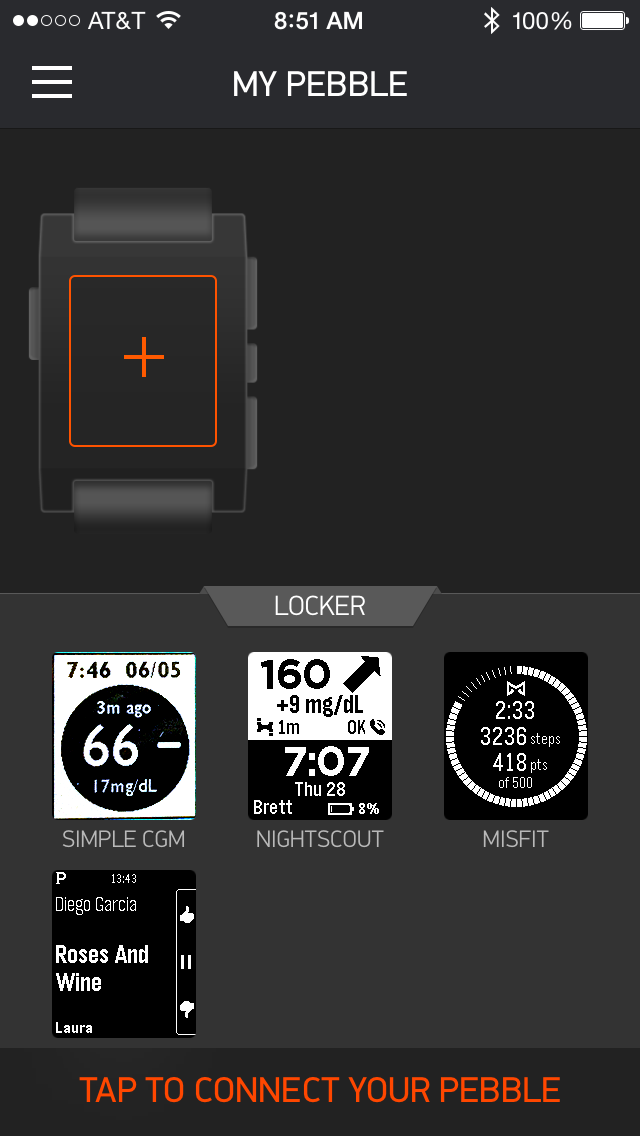 Dexcom Share and Pebble Watch Troubleshooting – Darwin the